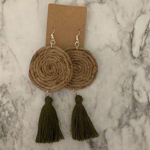 Jute Earrings with Tassel
